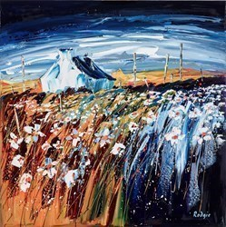 Crofters Meadow by Lynn Rodgie -  sized 30x30 inches. Available from Whitewall Galleries